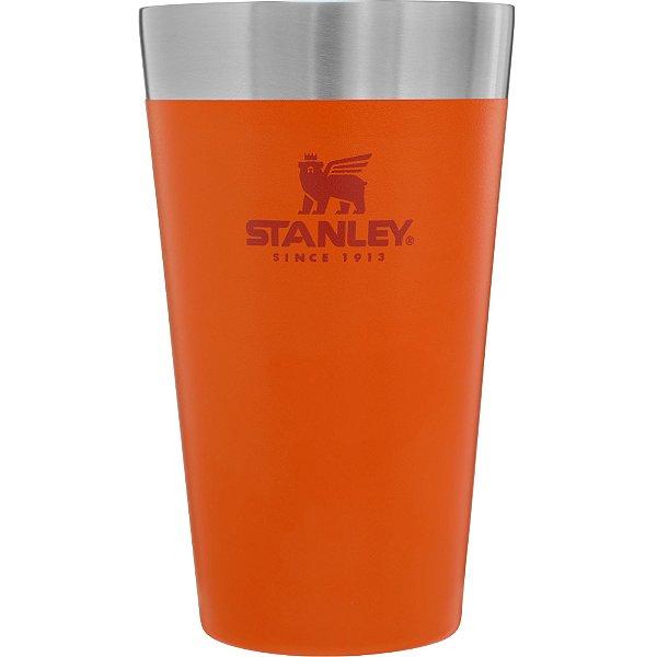 Copo term cerveja sem tampa stanley laranja 473ml