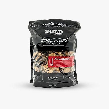 Wood Chips para defumação - Macieira 1kg