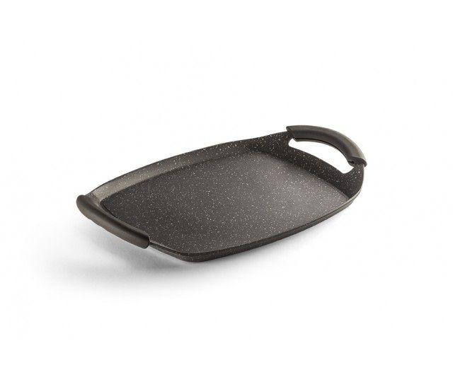 Chapa grill com alça marrom 26X21 - Antiaderente