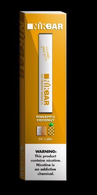 NikBar Pineapple Coconut - descartável