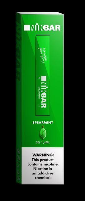 NikBar Spearmint - descartável