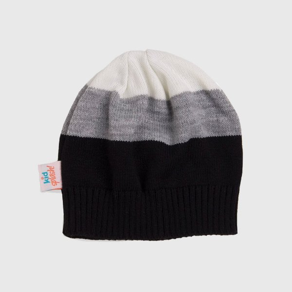 Gorro 3 Color - Preto/Off White/Cinza