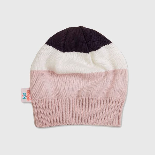 Gorro 3 Color - Rosa/Marinho/Off White