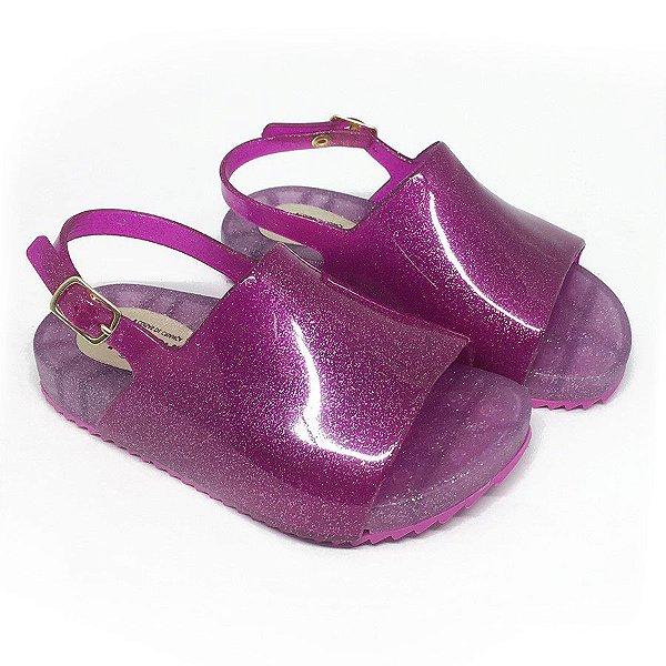 Sandália Slide KidSplash! Lisa Glitter Pink