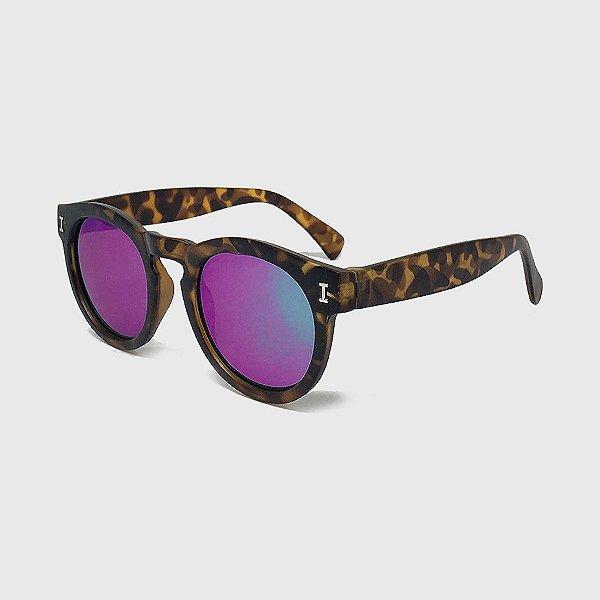 Óculos de Sol Infantil com Proteção UV400 Acetato Tartaruga