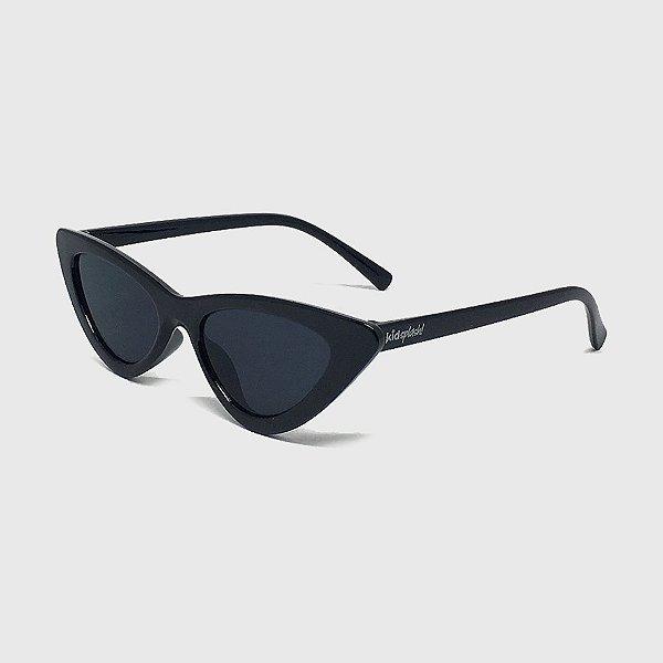 Óculos de Sol Infantil com Proteção UV400 Gatinha Acetato Preto