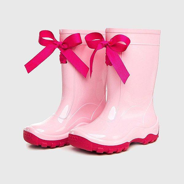Galocha KidSplash! Rosa Claro com Fita Pink