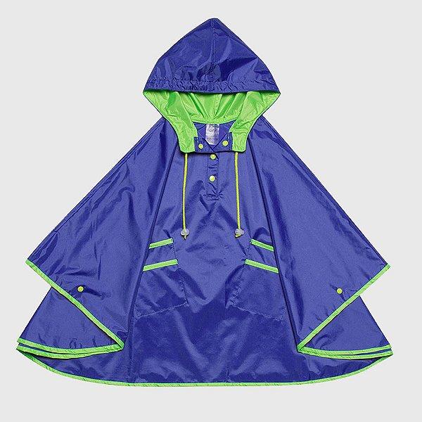 Capa De Chuva Lisa Azul Neon