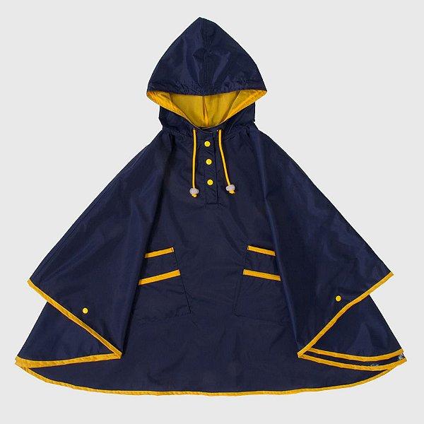 Capa De Chuva Lisa Azul Marinho