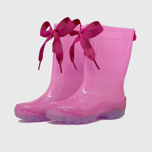 Galocha KidSplash! Glitter com Laço Pink