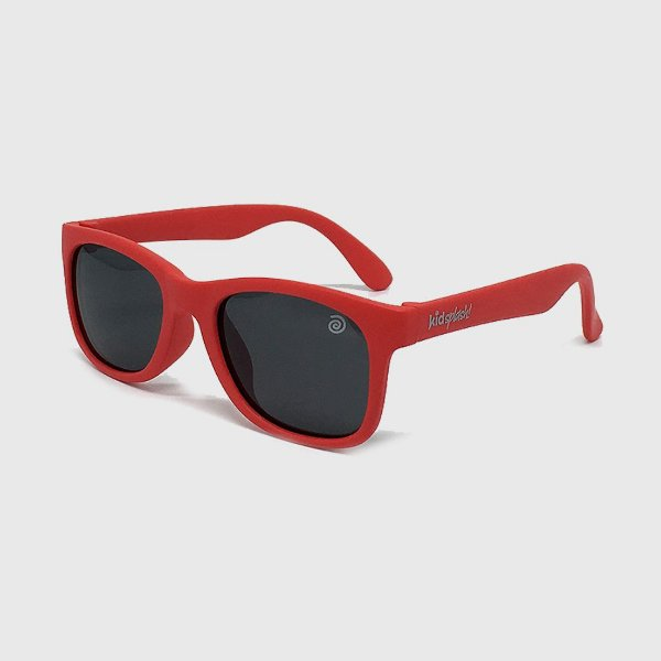 Óculos de Sol Infantil Flexível com Lente Polarizada e Proteção UV400 Vermelho