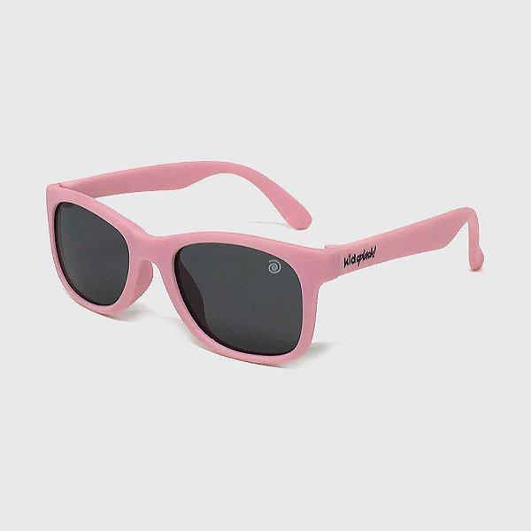 Óculos de Sol Infantil Flexível com Lente Polarizada e Proteção UV400 Rosa Nude