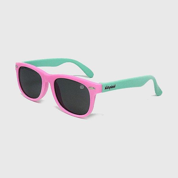 Óculos de Sol Infantil Flexível com Lente Polarizada e Proteção UV400 Rosa e Azul Piscina
