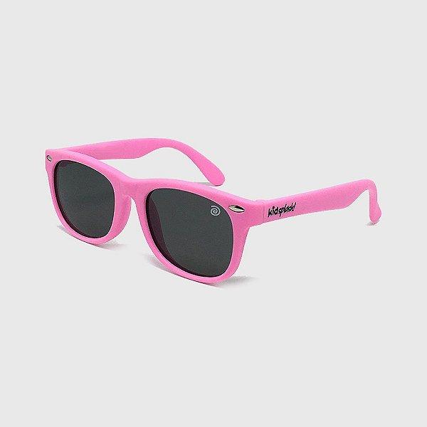 Óculos de Sol Infantil Flexível com Lente Polarizada e Proteção UV400 Rosa Claro