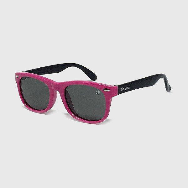 Óculos de Sol Infantil Flexível com Lente Polarizada e Proteção UV400 Pink e Preto