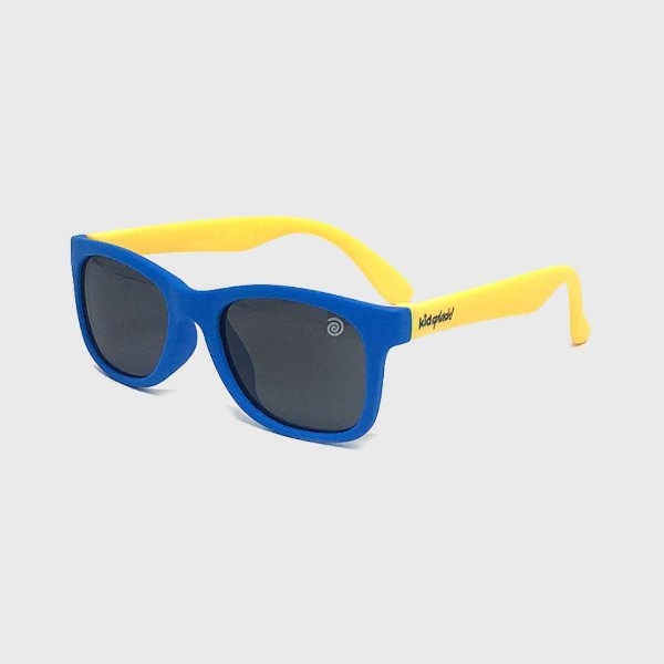 Óculos de Sol Infantil Flexível com Lente Polarizada e Proteção UV400 Azul Claro e Amarelo