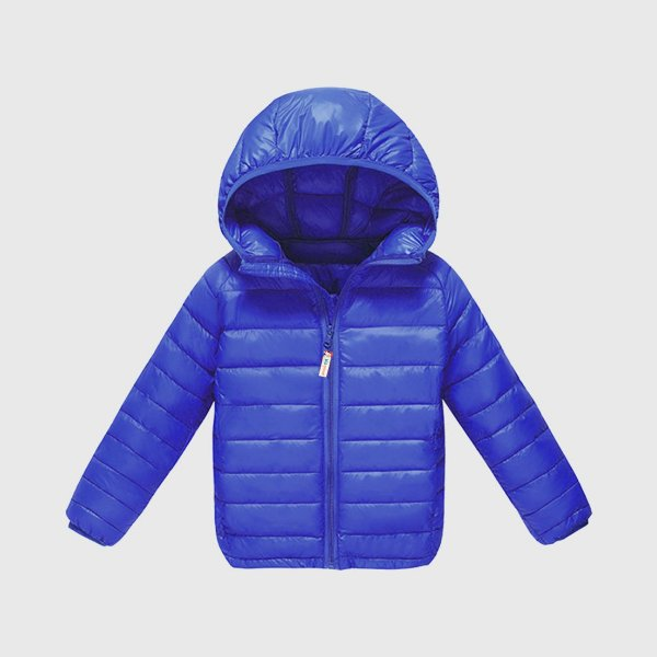 Jaqueta Ultraleve KidSplash! Azul Neon