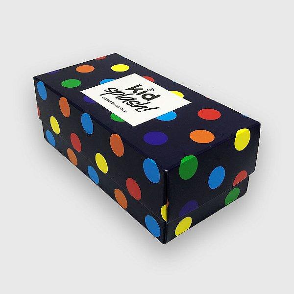 Caixa Presente Bola Multicolor