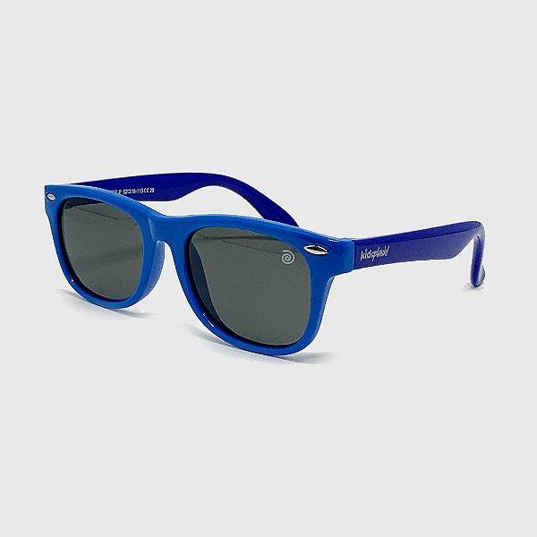 Óculos de Sol Infantil Flexível com Lente Polarizada e Proteção UV400 Azul Claro e Azul Neon