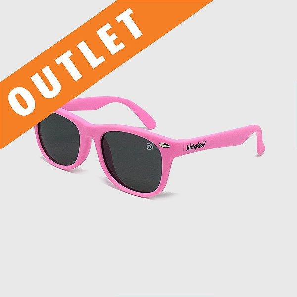 [OUTLET] Óculos de Sol Infantil Flexível com Lente Polarizada e Proteção UV400 Rosa Claro
