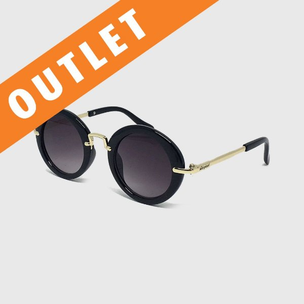 [OUTLET] Óculos de Sol Infantil com Proteção UV400 Redondo Acetato Preto