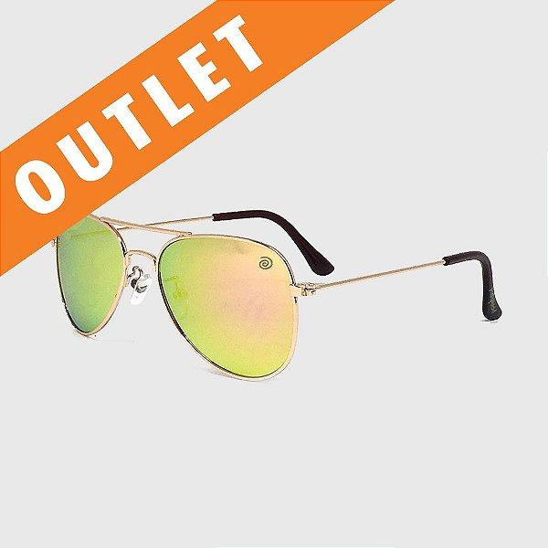 [OUTLET] Óculos de Sol Infantil com Proteção UV400 Aviador Espelhado Furtacor