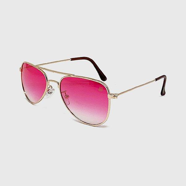 Óculos de Sol Infantil com Proteção UV400 Aviador Pink