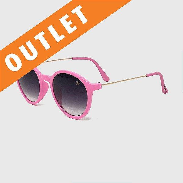 [OUTLET] Óculos de Sol Infantil com Proteção UV400 Redondo Acetato Teen Pink