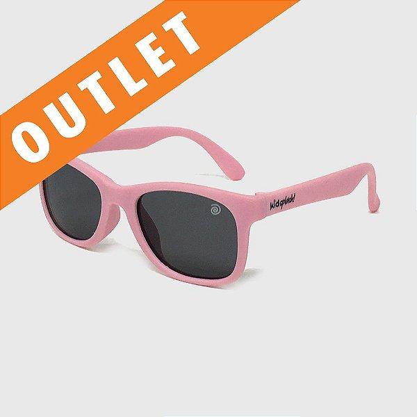 [OUTLET] Óculos de Sol Infantil Flexível com Lente Polarizada e Proteção UV400 Rosa Nude