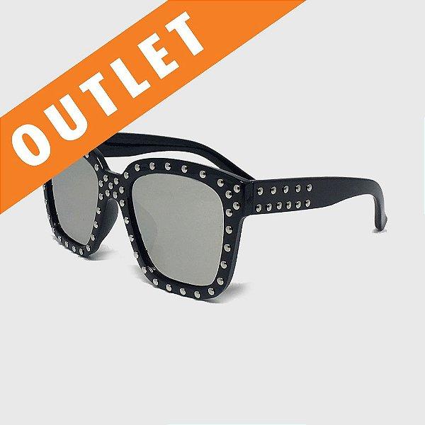 [OUTLET] Óculos de Sol Infantil com Proteção UV400 Acetato Spike Preto