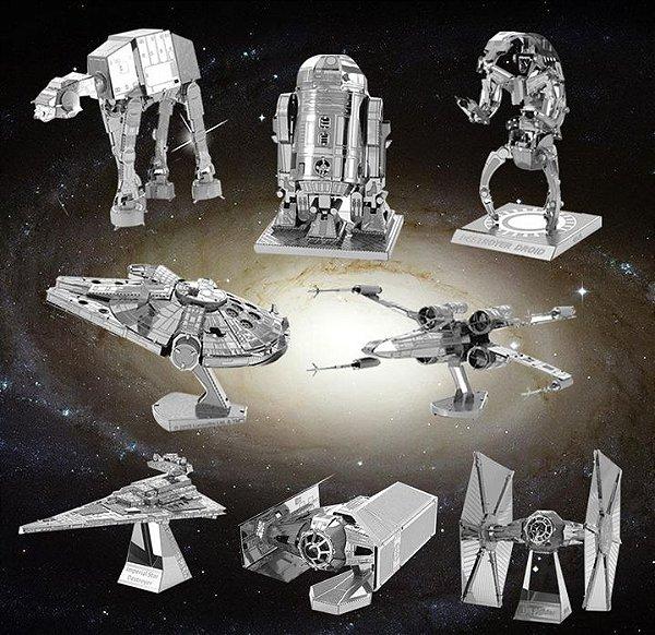 Réplicas em Miniaturas 3D de Metal - Star Wars