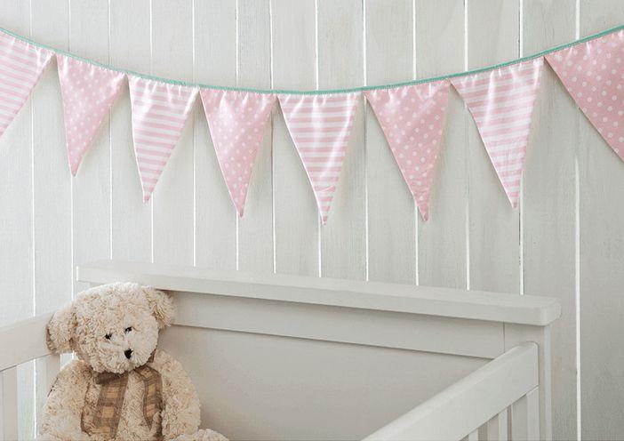 Bandeirinhas Decorativas para Quarto de Bebê - Várias Cores