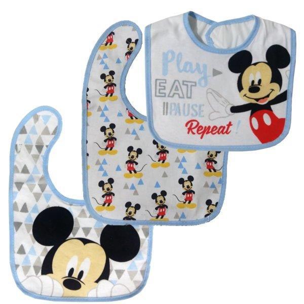 Kit com 3 Babadores Impermeável Mickey   Disney Baby
