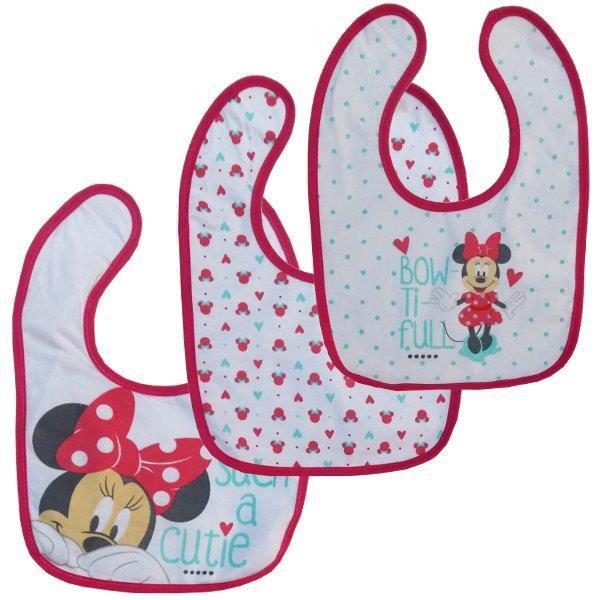 Kit com 3 Babadores Impermeável Minnie | Disney Baby