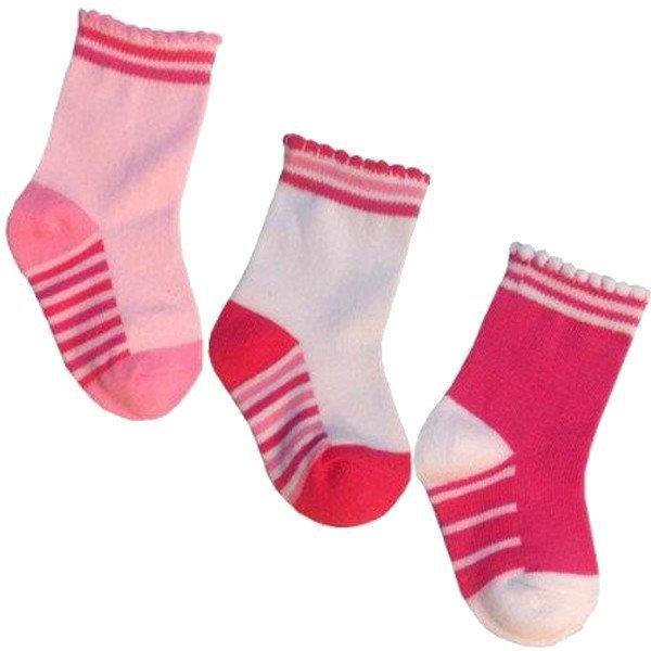 Kit com 3 pares de meias importadas para bebê 2 a 4 meses  - Feminino