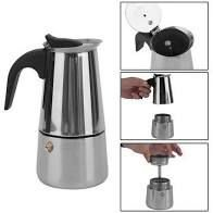 Cafeteira Italiana em Aço Inox 470 ml 9 Xícaras Uny Home +  (Brinde uma balança dose certa)