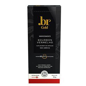 Café em cápsulas .br Bourbon Vermelho Intensidade 8 com 10 unidades