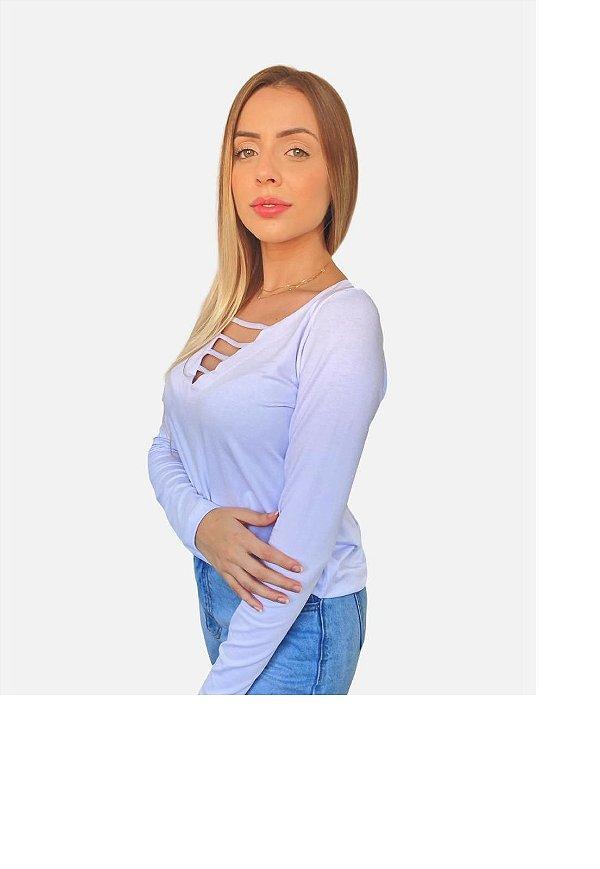 Blusa Up Side Wear Tiras Branca