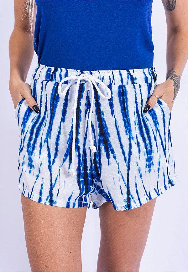 Shorts Tie Dye Up Side Wear Azul