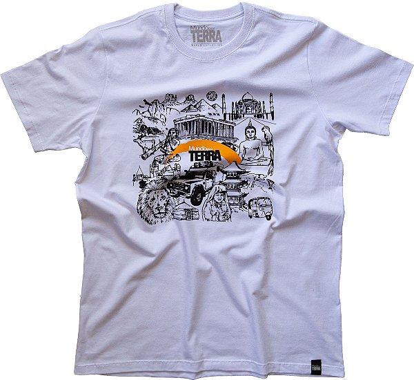 Camiseta Mundo por Terra Branca Unissex