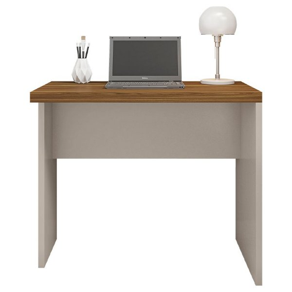 Mesa De Computador Escritório Studio Marrom Bege - Caemmun