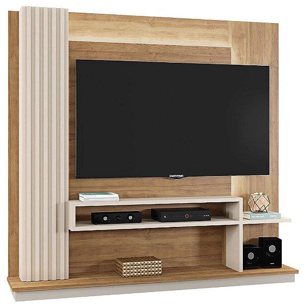 Estante Home Theater Para TV 65 Polegadas Elite Buriti/Off White