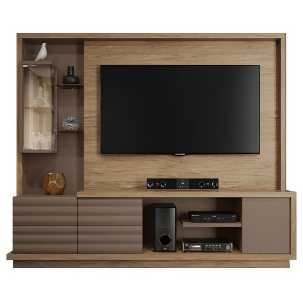 Estante Home Theater Para TV 70 Polegadas Absoluto Córdia/Fendi