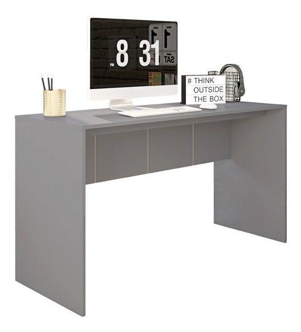 Mesa De Computador 136 Cm Cubic  Cinza - Caemmun
