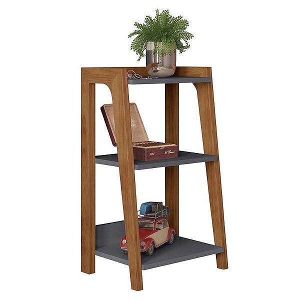 Mesa Lateral Loft Cinza/natture - Líder Design