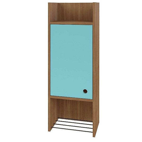 Nicho Decorativo 1 Porta Multi Buriti/Acqua - Líder Design