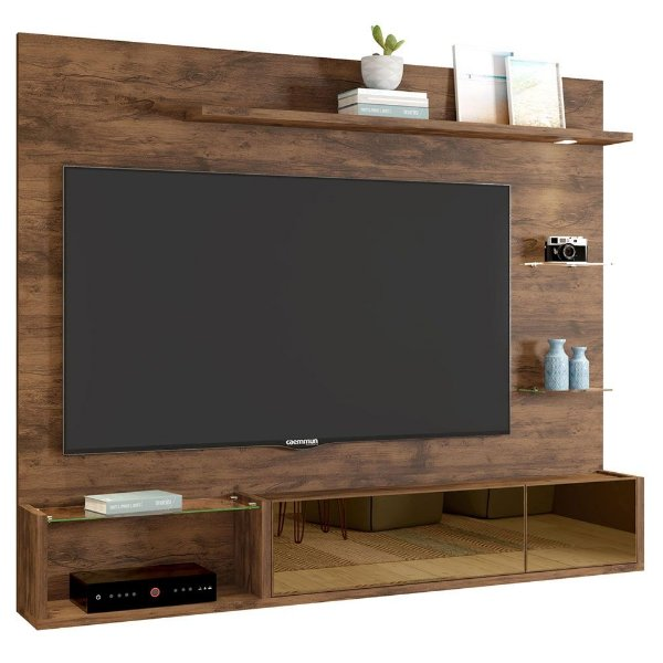 Painel Para TV Até 65 Polegadas Com 2 Portas Aurien Jatobá