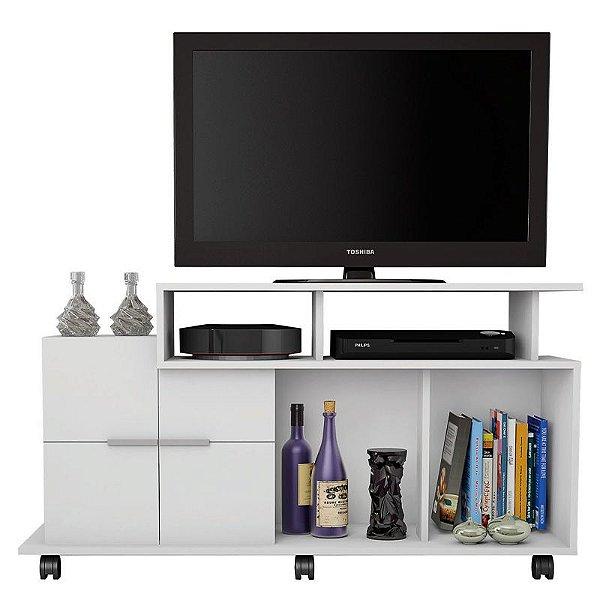 Rack Bancada Para TV Até 40 Polegadas Sena Branco - Caemmun
