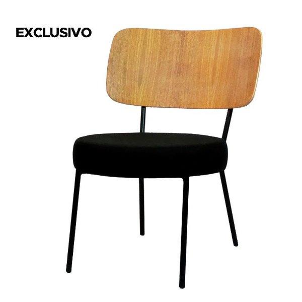 Poltrona Shell Cadeira Decorativa Preto - Overseas