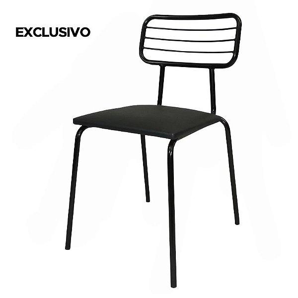 Cadeira Latitude Decorativa Preta - Overseas